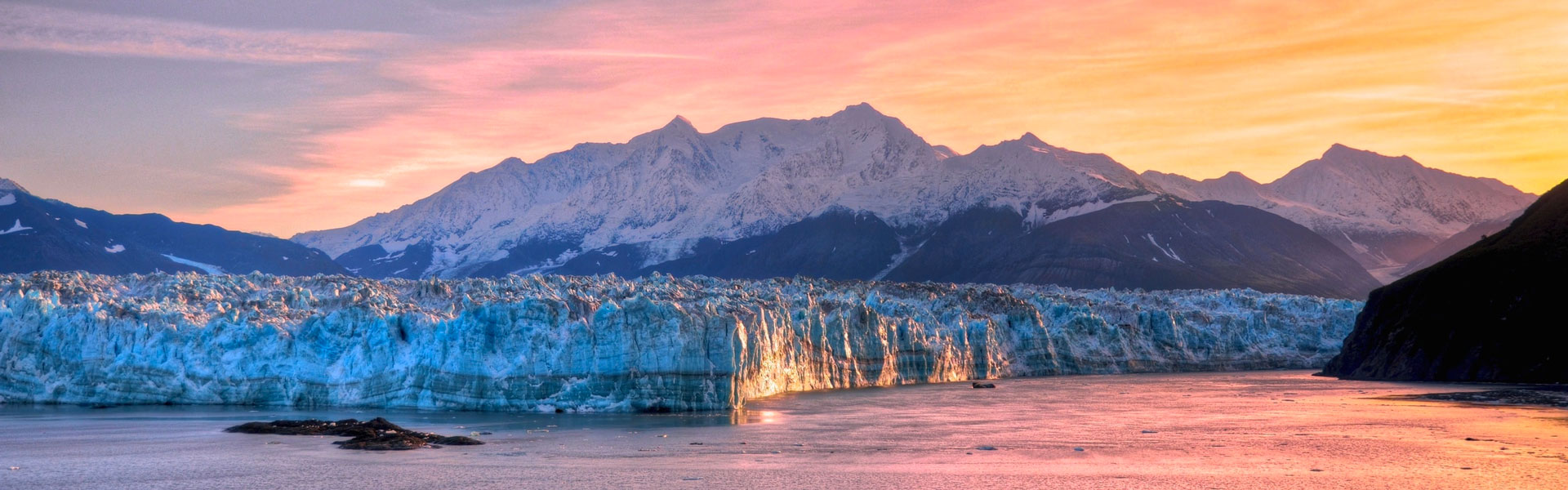 Prince William Sound | Prince William Sound Alaska Glacier at Sunset