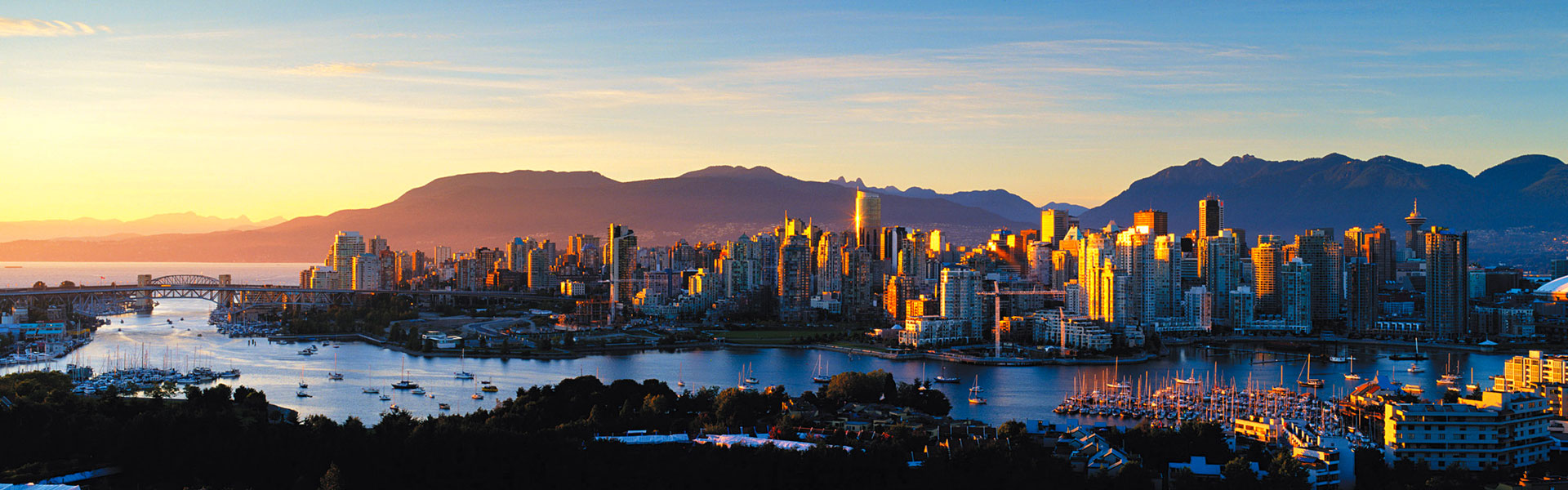 Vancouver Train Trips   Vancouver Sunset
