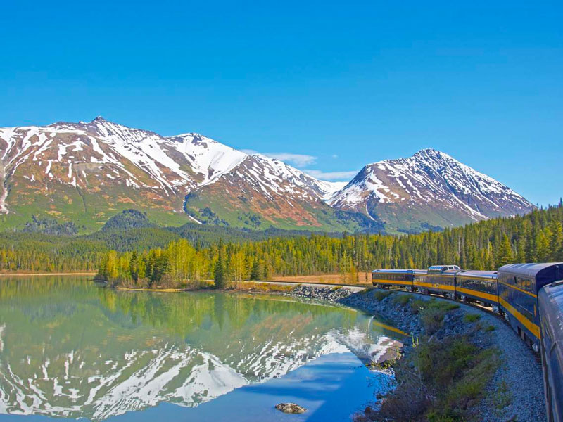 Alaska Cruise and Land Tour with Denali & Canadian Rockies  | Alaska Railroad