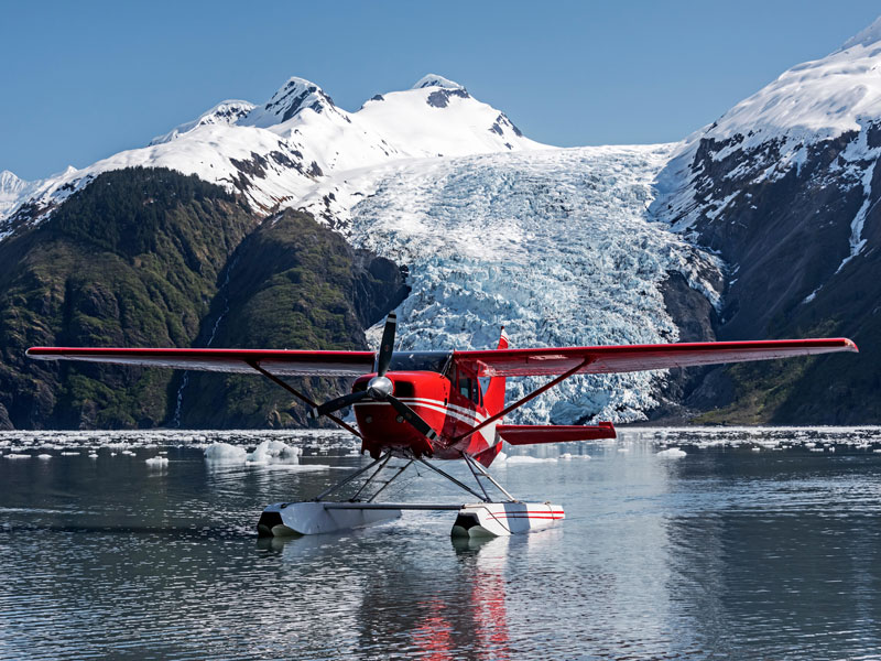 Luxury Lodges in Alaska | Private Plane & pilot for the Day in Prince William Sound