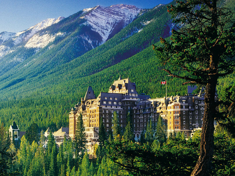 Alaska Cruise Tour | Canadian Rockies & Alaska Train Trips | Fairmont Banff Springs in the Canadian Rockies